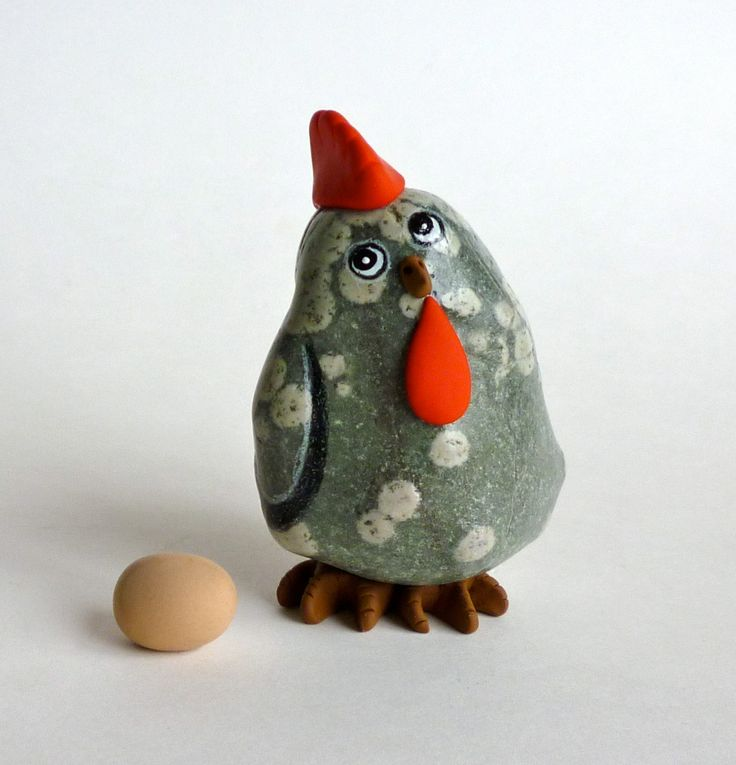 ***CHICKEN POX*** THE THING I LOVE THE MOST IS TO CREATE ARTWORK THAT MAKE PEOPLE SMILE. This is a one-of-a-kind hand painted and sculpted Rock Hen. I love finding unusual rocks and bringing them to like. This little hen is made from a hand picked River Rock, hand painted with