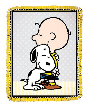 Another great find on #zulily! Snoopy & Charlie Brown Throw #zulilyfinds