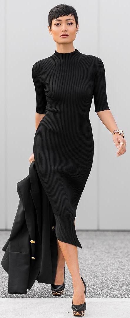 17 Best ideas about Knit Dress on Pinterest - Leather leggings ...