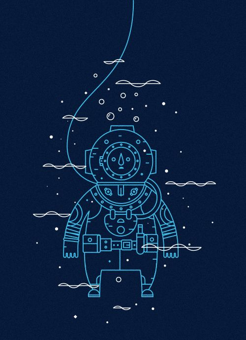 The Diver forHelp Ink. Pick up a shirt overhere, available for one week only!Richard Perez