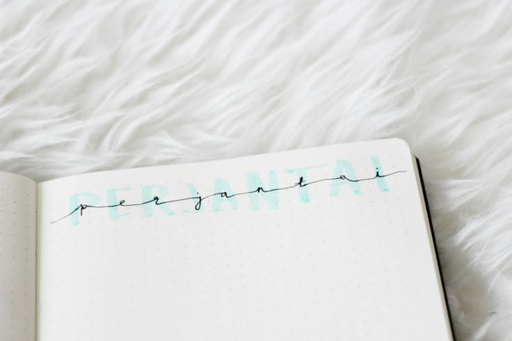 Ideas for titles in your bullet journal