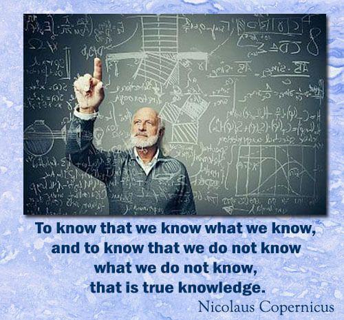 Nicolaus Copernicus Knowledge Quote
