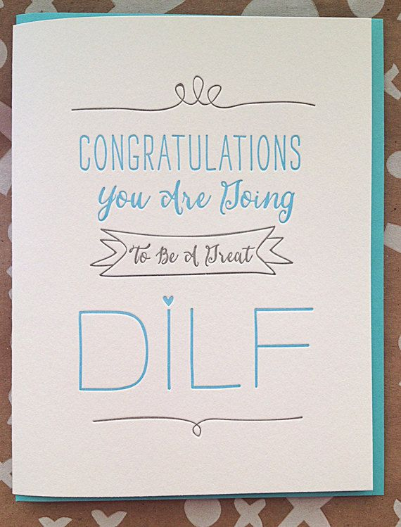 New Dad Card New Baby Card. You're going to be a great by jdeluce