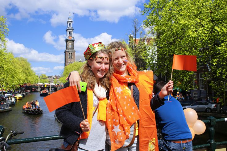 """https://flic.kr/p/skM9qN   Say Cheese in Amsterdam   © all rights reserved by <a href=""""http://www.flickr.com/photos/visbeek/"""">B℮n</a>  <b>King's Day</b> <i>Dutch: Koningsdag</i>, is the National holiday celebrated with joyful open air festivities on the King's Willem- Alexander birthday, held each year in April in the Netherlands. King's day Amsterdam celebrations are the biggest and the most attractive. More than million people arrive to the city to celebrate this day. Since 1885, while the…"""