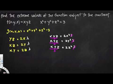 lagrange multipliers, three dimensions one constraint - Vector Calculus