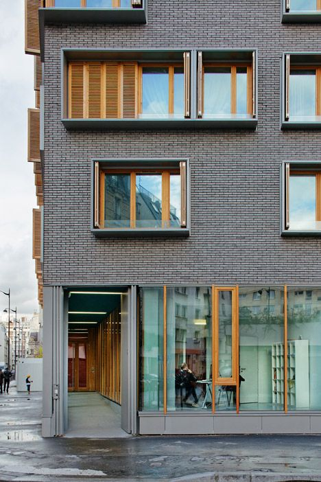 Gray Red Brick Building Block : Michel guthmann pairs grey brick with larch for paris
