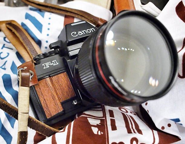 Woodenized Canon F-1n SLR