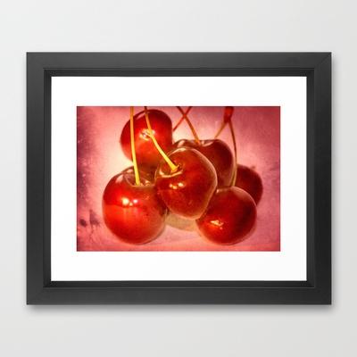 Cherries so sweet Framed Art Print by LoRo  Art & Pictures - $34.00Frames Art Prints, Frames Prints, Buy Cherries, Framed Art, Food Design, Artists Stores, Loro Art, Art Pictures, Framed Prints