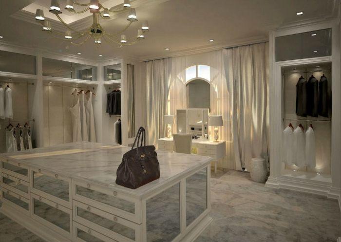1001 jolies id es d 39 am nagement dressing pratique dressing de luxe table coiffeuse et. Black Bedroom Furniture Sets. Home Design Ideas