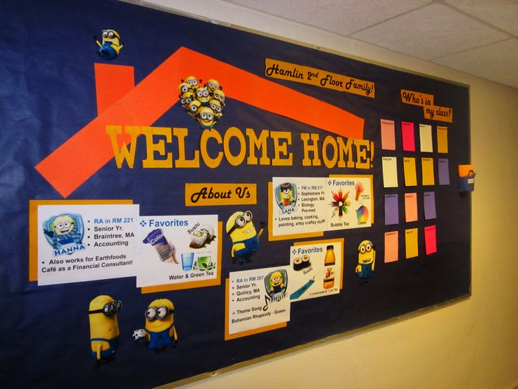 Despicable Me Minion Themed Nostalgic… But also thrilled to be done. This was my opening board last year and you can clearly tell since I had so much time then to make it! I used the minion generator...