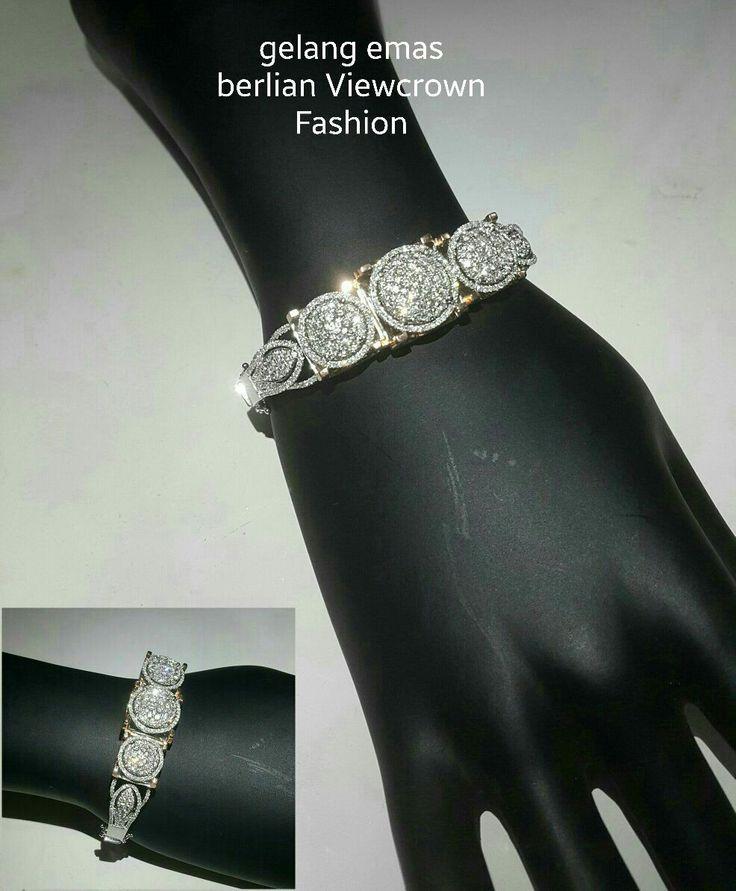 New. Buat apa repot macet2an klu kamu dimanjakan langsung dilayani antar langsung ke tempatmu ladies!! (Same like pic).  Gelang Emas Berlian Viewcrown Fashion.   Toko Perhiasan Emas Berlian-Ammad +6282113309088/5C50359F Cp.Antrika. https://m.facebook.com/home.php #investasi#diomond#gold#beauty#fashion#elegant#musthave#tokoperhiasanemasberlian