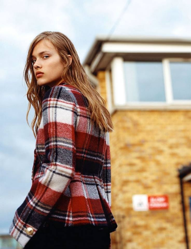 Seeking a preppy sense of style shaped by British influences. Fay tartan wool peacoat for the latest Amica Italy's fashion editorial.