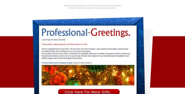 Professional Greetings - Newsletter - Email   #themeforest