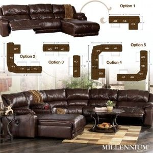 Braxton Java Custom Sectional By Millennium By Ashley Furniture,  97800 CUSTOM SEC · Contemporary Living RoomsLiving Room ... Part 87