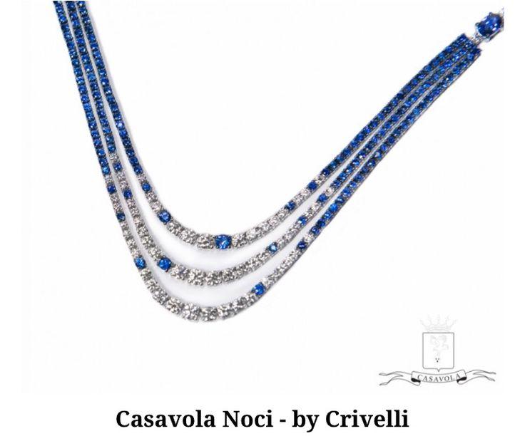Collana tennis con zaffiri e diamanti