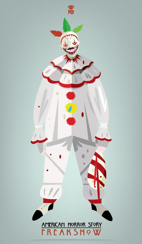 Twisty / American Horror Story Freakshow Check mugs prints etc and support my art!http://society6.com/patriciooliver/twisty—american-horror-story_print#1=45