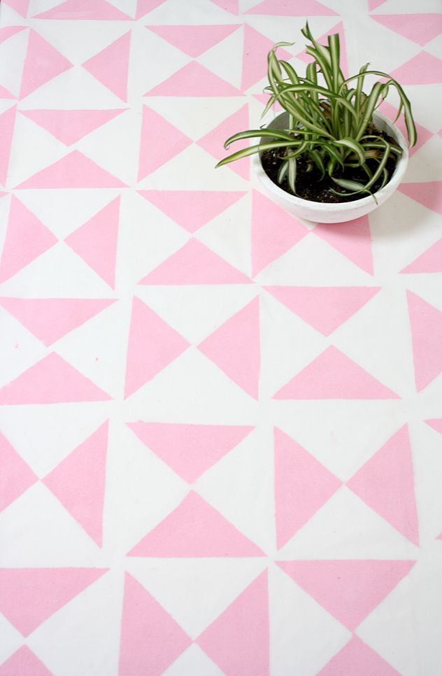 DIY Geometric Tablecloth or Backdrop