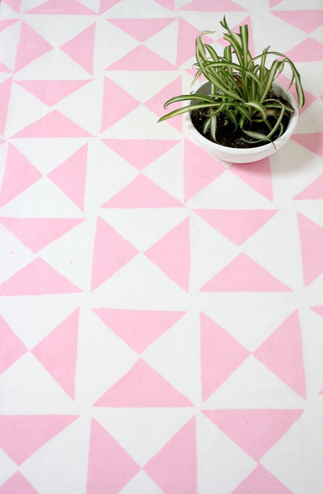 DIY Geometric Tablecloth Backdrop