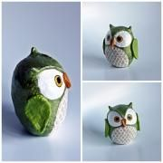 Paper mache owls. I have to make one of these!