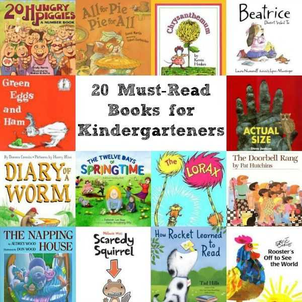 20 Must-Read Books for Kindergarteners via @natlubrano on @Untrained Housewife