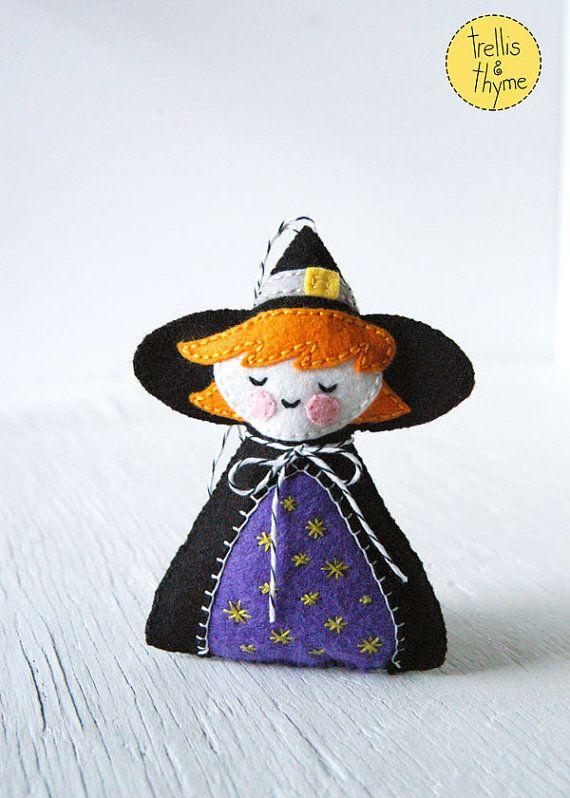 PDF Pattern  The Littlest Witch Halloween Felt by sosaecaetano