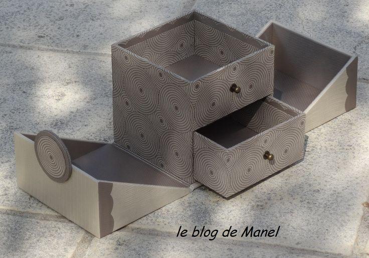 Les cartonnages de Manel / boite K'do carrée ouverte