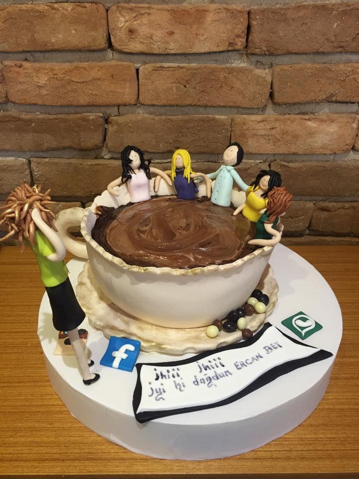 Kahve Keyfi Doğum Günü Pastası. Renkli Tatlar Cafe Patisserie. İletişim 0258 211 44 44 www.renklitatlar.com.tr