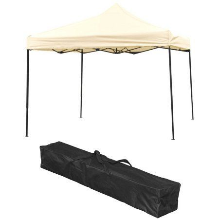 Lightweight and Portable Canopy Tent Set, 10' x 10', By Trademark Innovations, Beige