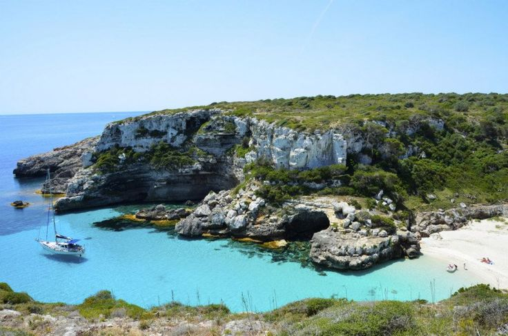 Calos de Marmols, Mallorca, España. Take a boat trip here or walk from lighthouse. Speak to concierge at hotel.