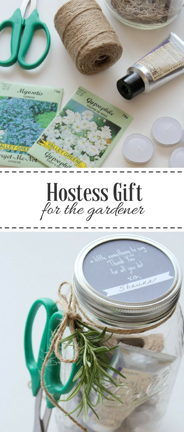Put together this easy and inexpensive mason jar hostess gift for the gardener. Perfect for spring and summer parties!