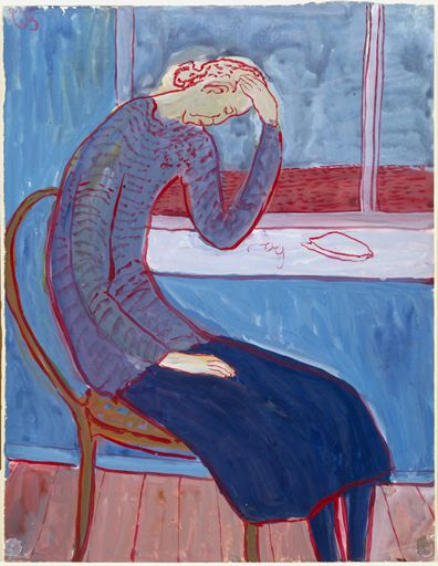 Charlotte Salomon, from Life? or Theater? 1940-1943 Gouache on paper. (Courtesy Contemporary Jewish Museum)