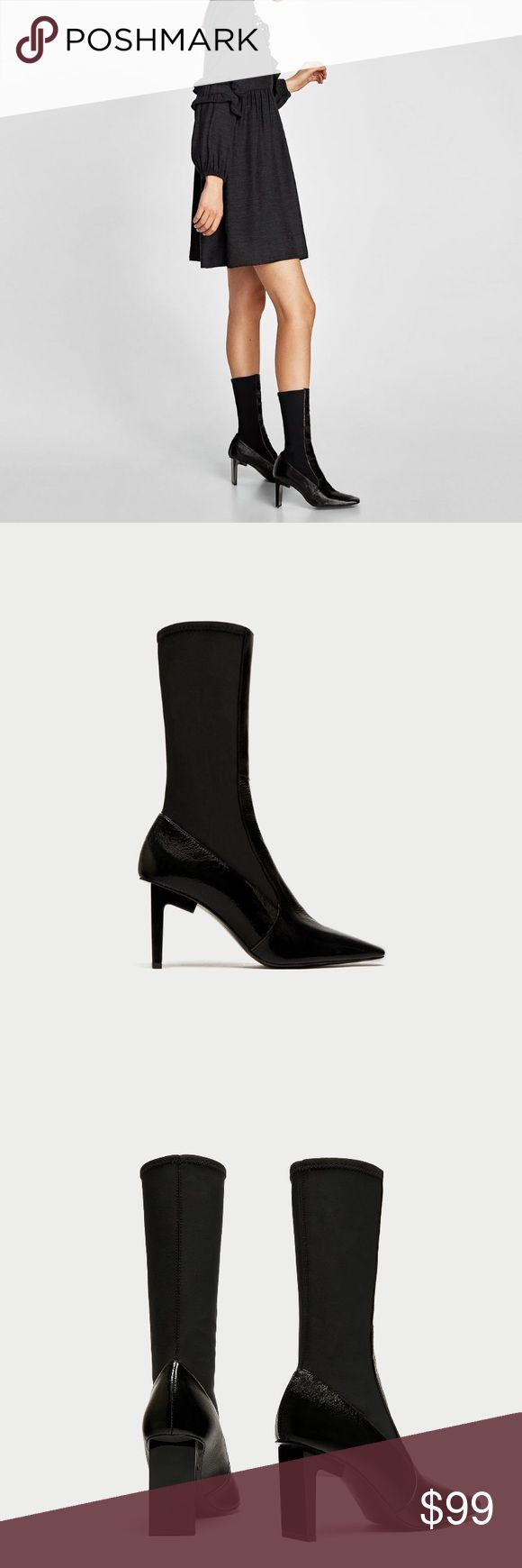 Zara ankle boots Zara leather ankle boots in size Euro 42 which is a U.S size 11 . ❌NO TRADE ❌ currently sold out everywhere . These boots look amazing with dresses , jeans , shorts and more ! It's LEATHER!! Worn once for 2 hours (indoors) Zara Shoes