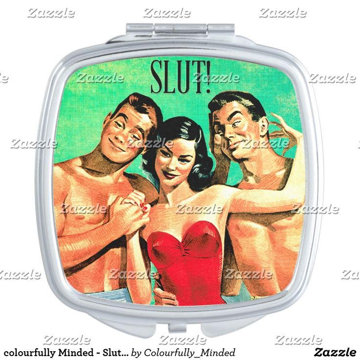 colourfully Minded - Slut Compact Mirror