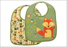 SugarBooger What Did The Fox Eat? Bib Set (2)