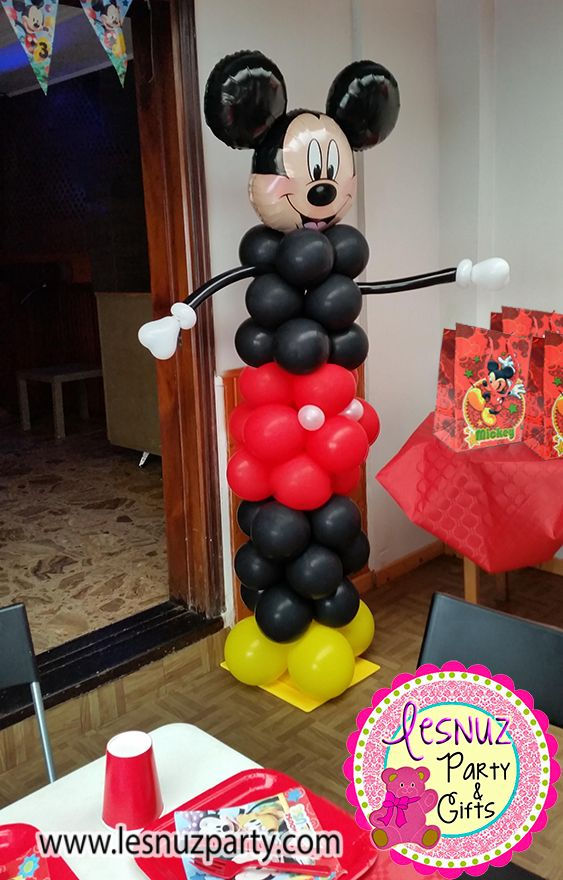 Torre Mickey Mouse fiesta temática para niños - Mickey Mouse themed birthday party decoration