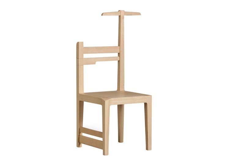 chaise valet de nuit en frne metamorfosi chaise morelato - Valet Chaise Bois