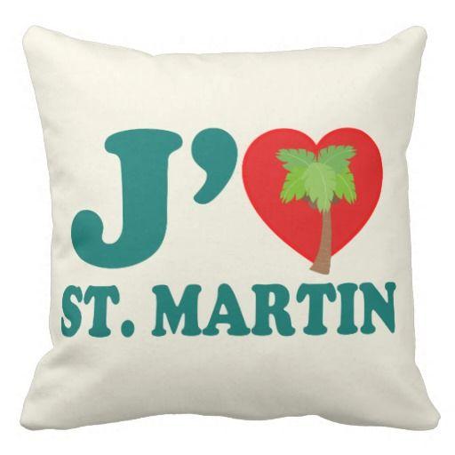J'aime St. Martin Pillow by Carib Love Designs. #J'aimeStMartin #StMartin #Home #Pillow #CaribLoveDesigns #Zazzle