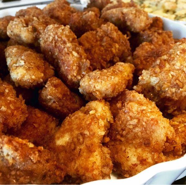 Snilleskök - Parmesan och pretzel panerade kyckling nuggets.