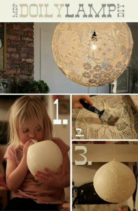 Cute idea for DIY lamps for reception