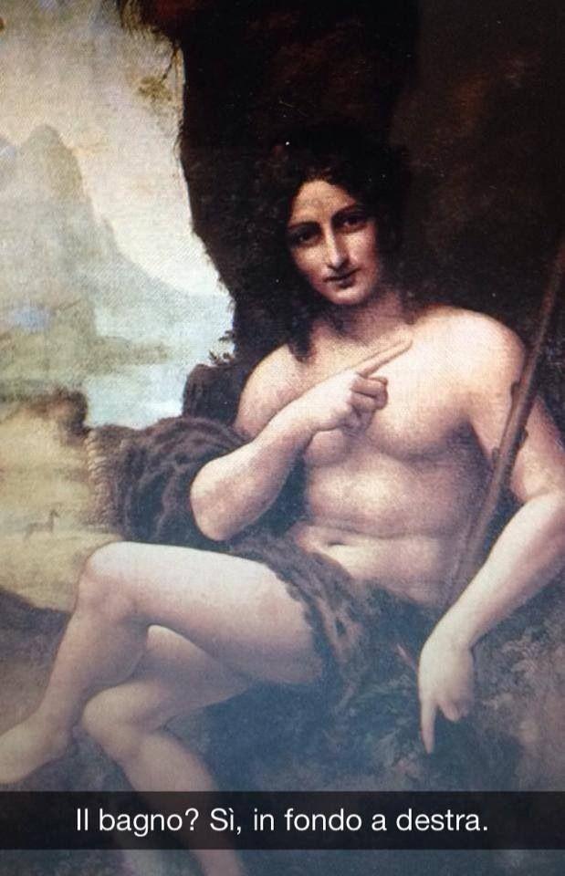 "Leonardo da Vinci . "" Bacco """