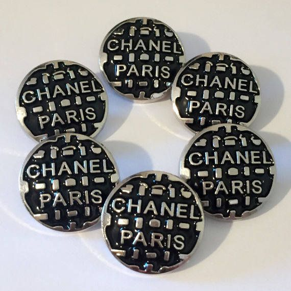 Chanel Buttons  Preowned Estate Sale Vintage 18mm Metal