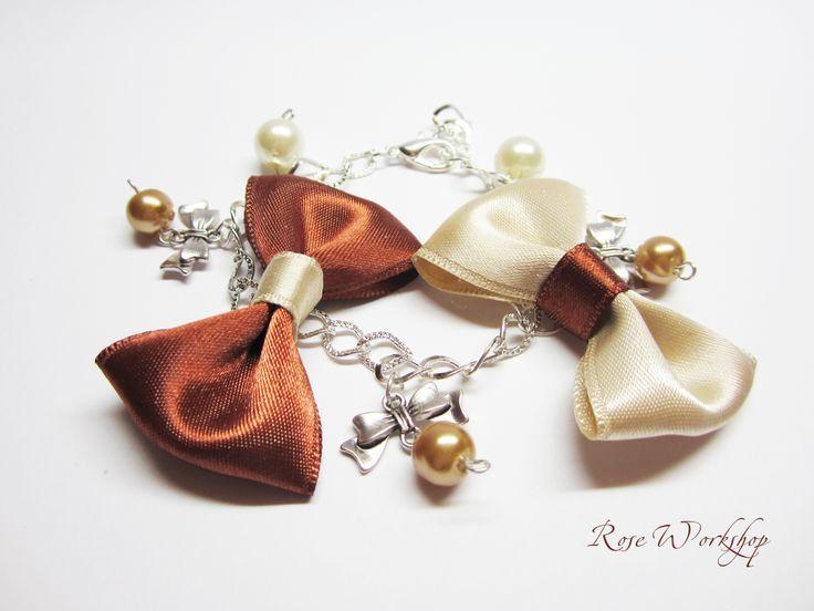 Winter sweets- 'gingerbread' bracelet