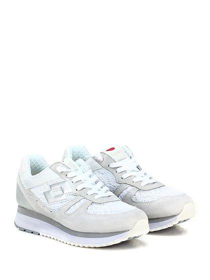 LOTTO LEGGENDA - Sneakers - Donna - Sneaker in pelle laminata, camoscio e tessuto lavorato con suola in gomma, tacco 35, platform 25 con battuta 10. - SABBIA\BIANCO - € 120.00
