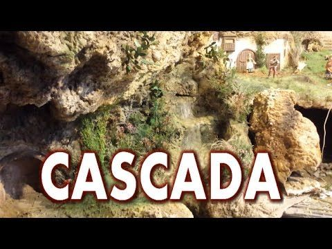 CASCADA PARA BELEN O JARDIN COMO HACERLA - TO BETHLEHEM OR GARDEN WATERFALL - YouTube