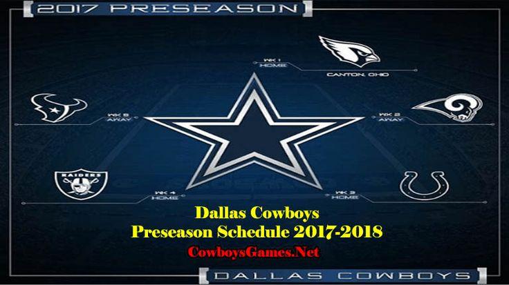 Dallas Cowboys Games Schedule 2017 | Cowboysgames.net