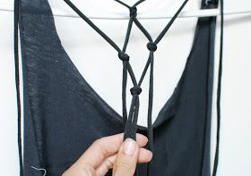 Trash To Couture: DIY tshirt into knotted racerback