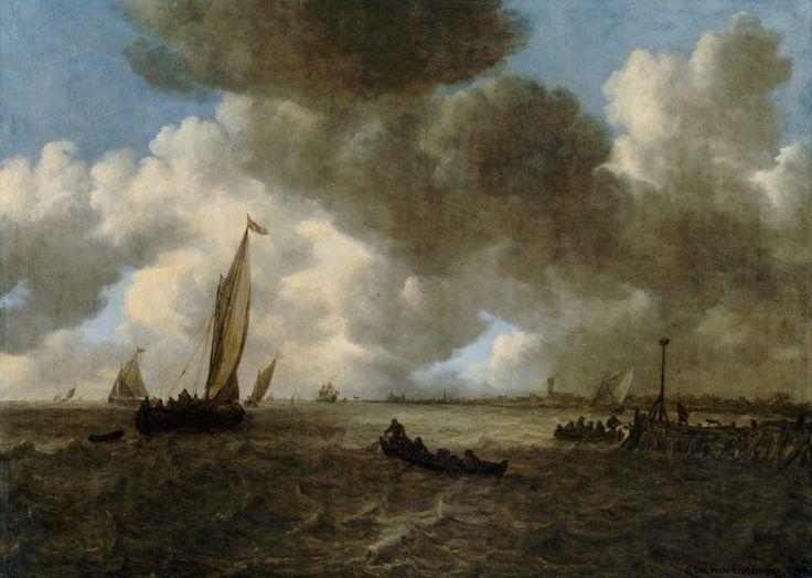 A Stormy Seascape Jan van Goyen, 1665 / Finnish National Gallery