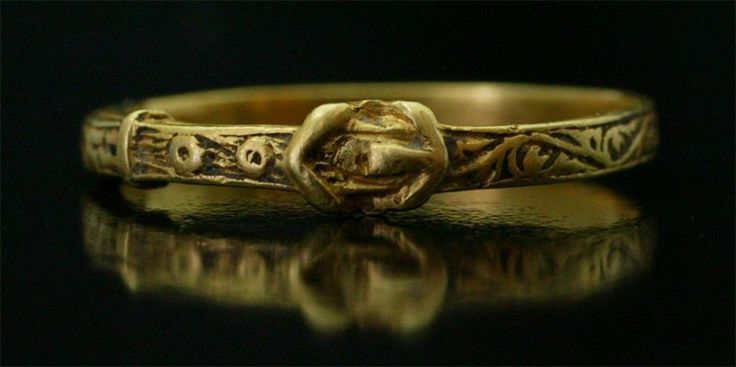 Medieval gold ring, late 14th century, France, circa 1400