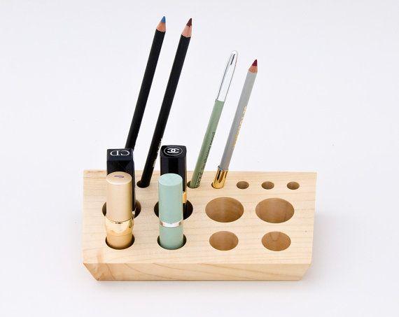 Best Lipstick Holder Ideas On Pinterest Diy Lipstick Holder - Cosmetic makeup organizer wood countertop organizer by lessandmore