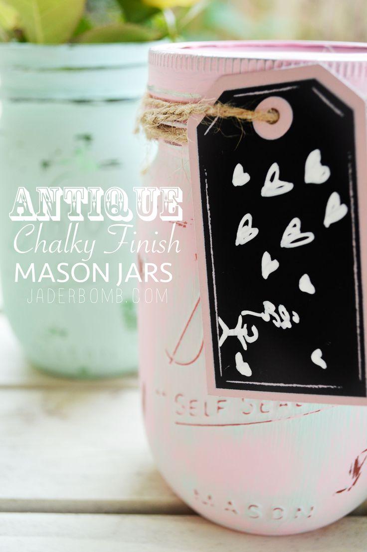 Antique Chalky Finish Mason Jars – Michael's Makers